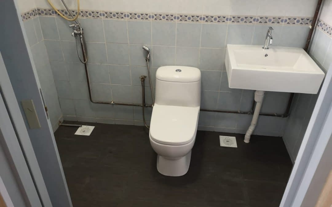 Install Seated Toilets, Solution Bowl And Overlay Tile At Canberra Link