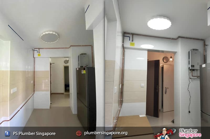 Supply and install hot and cold stainless steel pipe in Lower Delta Road   💪PS Plumber Singapore
